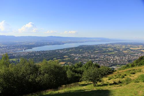 Genf und Genfersee vom Salève aus gesehen