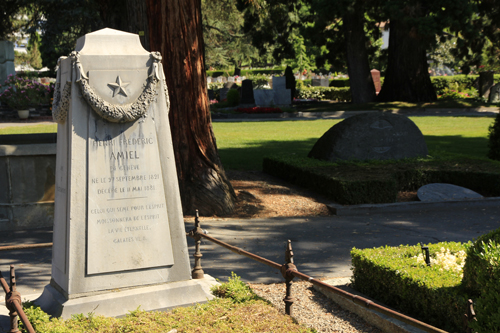 Amiels Grab auf dem Friedhof in Clarens